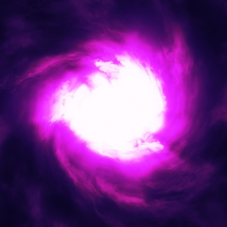 Abstract glowing purple clouds with white hole. photo