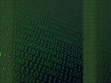 Abstract background of digital binary computer language code. photo