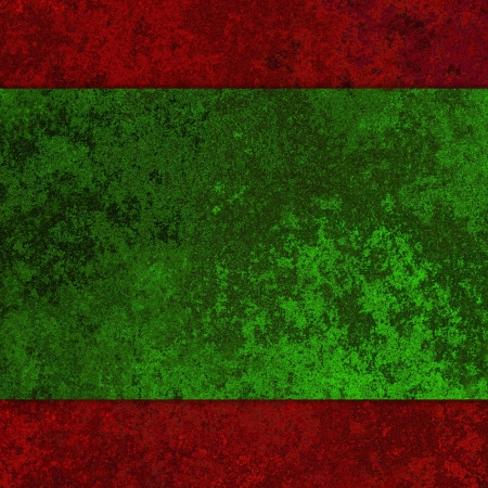Grunge red and green metal texture background. photo