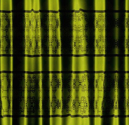 Luxury curtain of green color with abstract pattern background. Stock Photo - 19429648