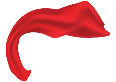 Smooth elegant red santin scarf illustration on white background. Stock Vector - 19429678