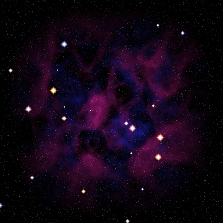 Colorful deep space background with nebula and stars. photo