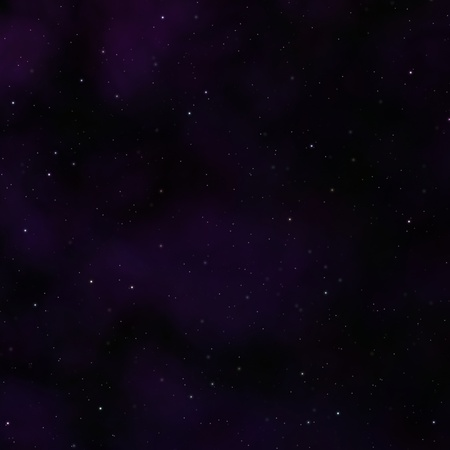Deep space background with stars and purple clouds. photo