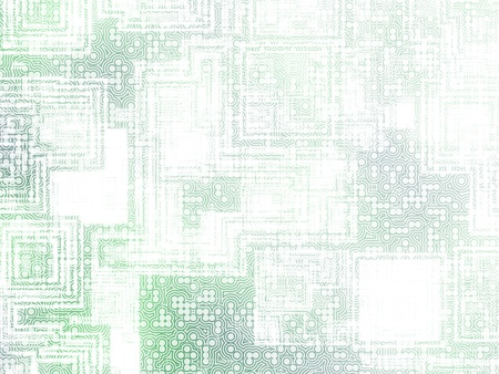 Abstract technology background of glowing printed circuit board. photo