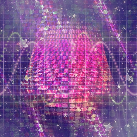 Abstract background of purple color with bokeh lights and stars. Фото со стока - 19758403