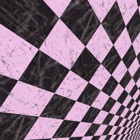 Abstract checkered background of lilac color with perspective effect. photo