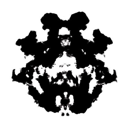 Rorschach inkblot test illustration, random abstract background. illustration