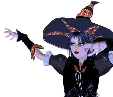 Digitally rendered image of halloween witch on white background. Stock Photo - 21546843