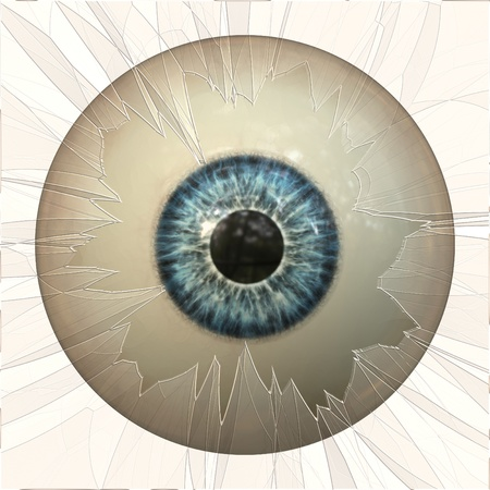 Digitally rendered illustration of an abstract eyeball background.