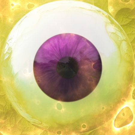 Digitally rendered illustration of an abstract eyeball background. illustration
