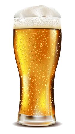 Bicchiere di birra fredda con gocce d'acqua Archivio Fotografico - 22505348