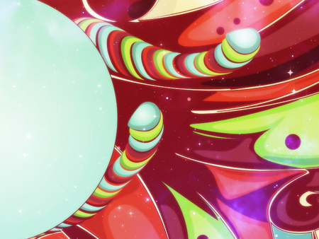 Abstract colorful candy with funky elements. photo