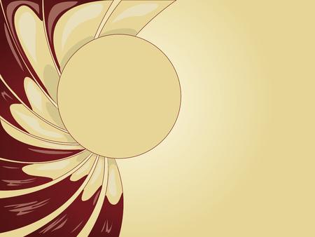 cremoso: Abstract fundo cremoso suave amarelo com chocolate. Ilustra��o