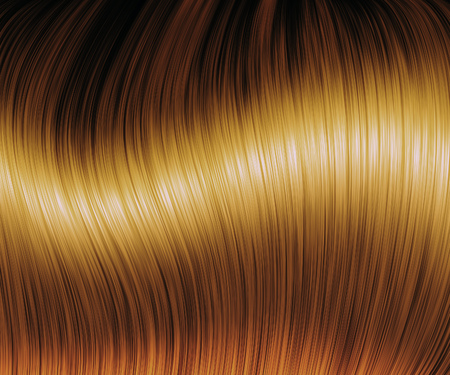 sleek: Digital generated sleek brown hair texture background. Stock Photo