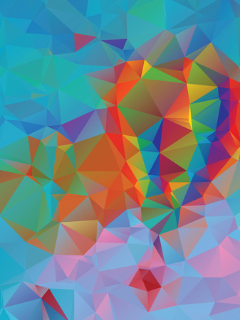 vibrance: Abstract colorful geometric background with triangular polygons.