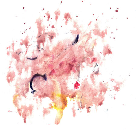 contrast resolution: Abstract grunge gouache painting