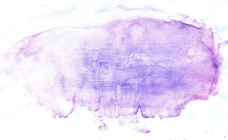 Abstract gouache art painted background of violet color.