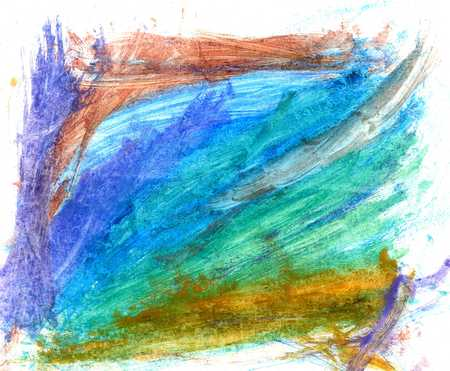 Abstract grunge colorful gouache art painted background. Stock Photo