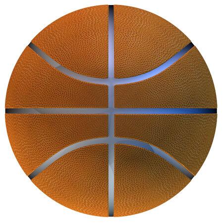 Digitally rendered illustration of a basketball ball on white background. illustration