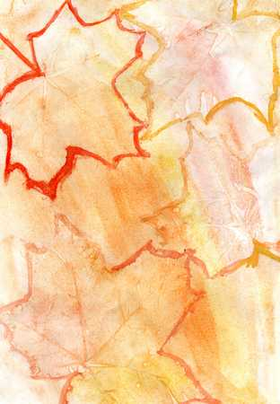 contrast resolution: Abstract gouache painted background of  yellow and orange color.