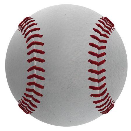 hitter: Digitally rendered illustration of a baseball ball on white background.