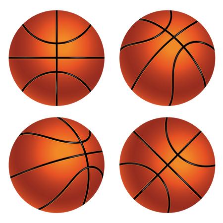 Detailed basketball ball illustration on white background. Vektorové ilustrace