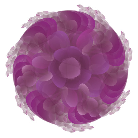 dram: Abstract purple creative ornament on white background. Illustration