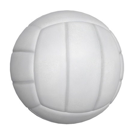 Digitally rendered illustration of a volleyball ball on white background. illustration