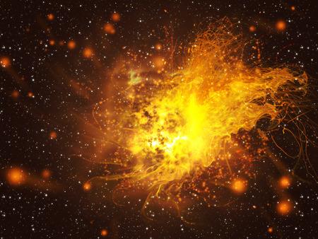 Big explosent dans l'espace, la science abstraite fond. Banque d'images - 32858907
