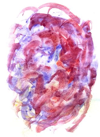 Grunge painted paper texture, multicolor brush strokes as background. photo