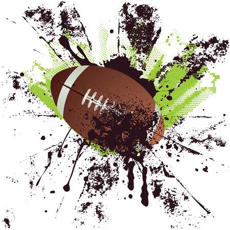 Football américain, ballon de rugby sur le fond grunge. Banque d'images - 33889316