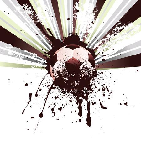 Résumé football, ballon de football sur le fond grunge. Banque d'images - 34697019