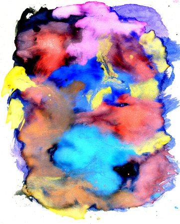 gouache: Vibrant multicolor gouache painted texture as background. Stock Photo