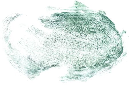Abstract grunge gouache painting background of green color.
