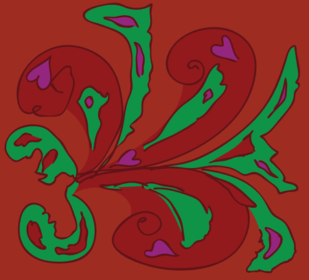 gaze: Abstract stylized ornament doodle, hand drawn style. Illustration