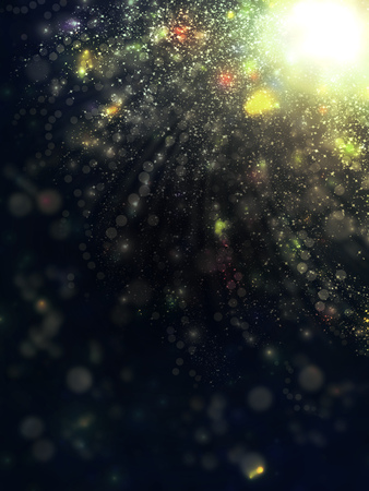 big star: Bright background with big star and bokeh effect.