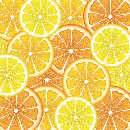 citron: Grapefruit, lemon and orange citrus fruit slices, colorful background.