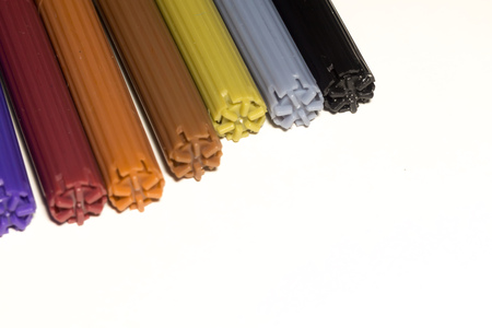 hued: Multicolor felt tip pens macro as abstract background.
