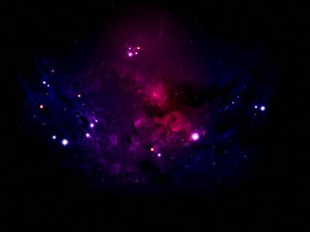 open space: Colorful rich star forming nebula in open space background. Stock Photo