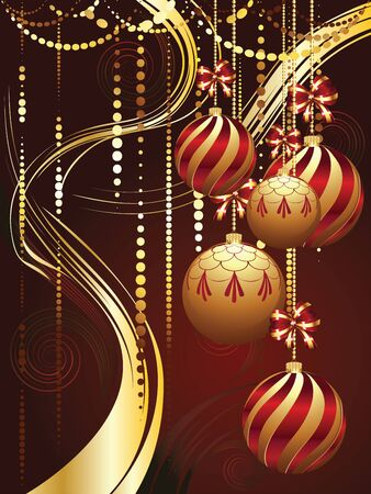 blue ball: Colorful decorative Christmas golden balls, holiday ornaments.