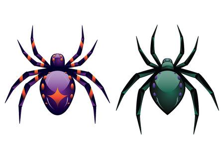 halloween spider: Abstract illustration of cartoon halloween spider design. Illustration