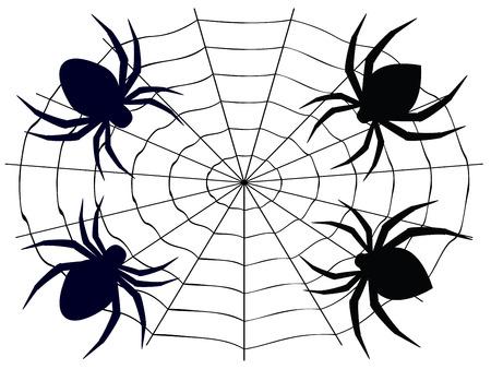 halloween scary: Abstract illustration of cartoon halloween spider design. Illustration