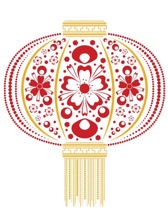paper lantern: Decorative oriental Asian paper lantern made of flowers ornament.