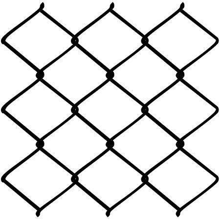 Zaun Aus Metall Drahtgeflecht-Darstellung Auf Weißem Hintergrund ...