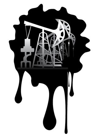 oil industry: Oil industry grunge design with black splatter.