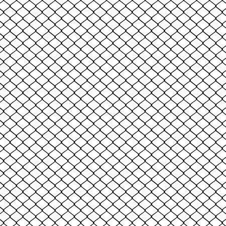 Clôture en fil de métal mesh illustration sur fond blanc.