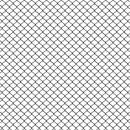 metal mesh: Fence made of metal wire mesh illustration on white background.