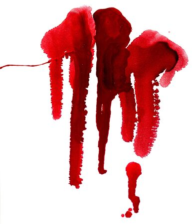 paint dripping: Grunge background with paint dripping of red color.