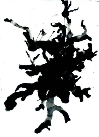 paint dripping: Grunge background with paint dripping of black color.