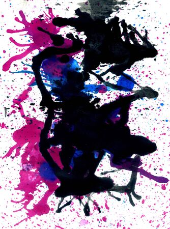 lifeblood: Grunge background with paint dripping of different colors. Stock Photo